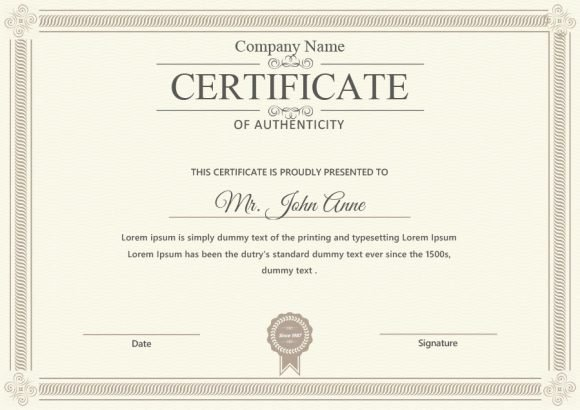 Certificate Of Authenticity Artwork Template Luxury 37 Certificate Of Authenticity Templates Art Car
