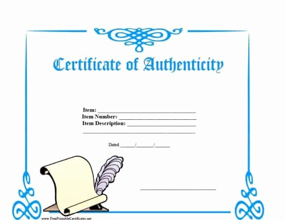 Certificate Of Authenticity Artwork Template Unique 37 Certificate Of Authenticity Templates Art Car