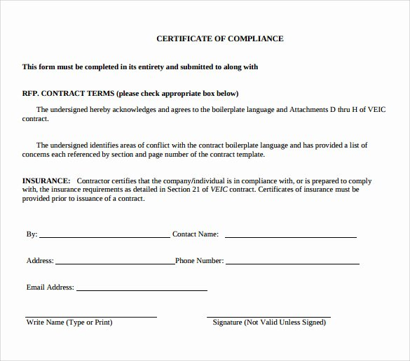 Certificate Of Conformity Template Best Of Sample Certificate Of Pliance 16 Documents In Pdf