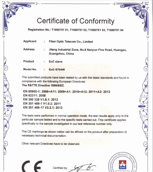 Certificate Of Conformity Template Fresh Congrats Fot 3 Types Of Eoc Equipment Win Ce Certificates