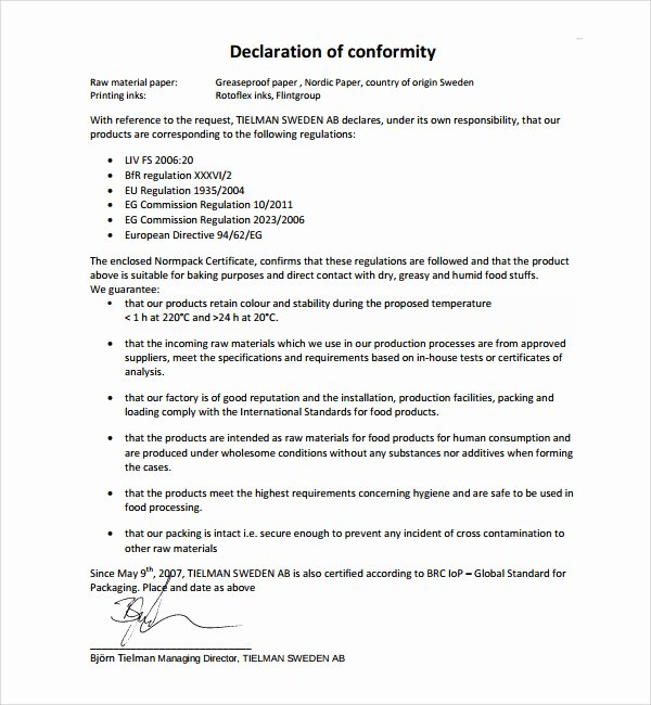 Certificate Of Conformity Template Lovely Conformity Certificate Templates – 10 Free Sample