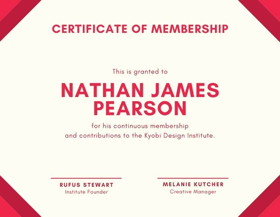 Certificate Of Membership Template Awesome Customize 1 655 Certificate Templates Online Canva