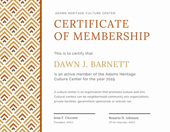 Certificate Of Membership Template Awesome Customize 1 965 Certificate Templates Online Canva