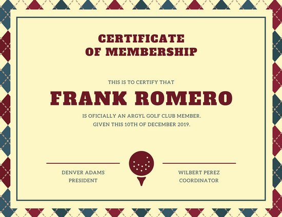Certificate Of Membership Template Best Of Membership Certificate Templates Canva