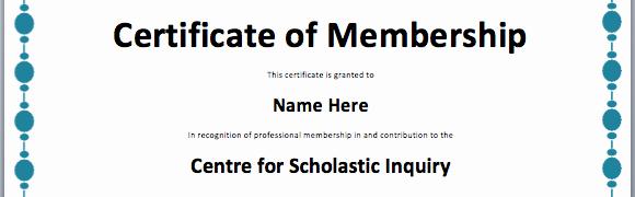 Certificate Of Membership Template Elegant Certificate Templates
