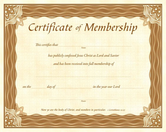 Certificate Of Membership Template Elegant Quotes About Church Membership 35 Quotes