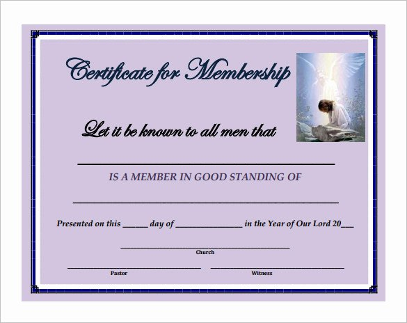 Certificate Of Membership Template Fresh 6 Membership Certificate Templates Website Wordpress Blog