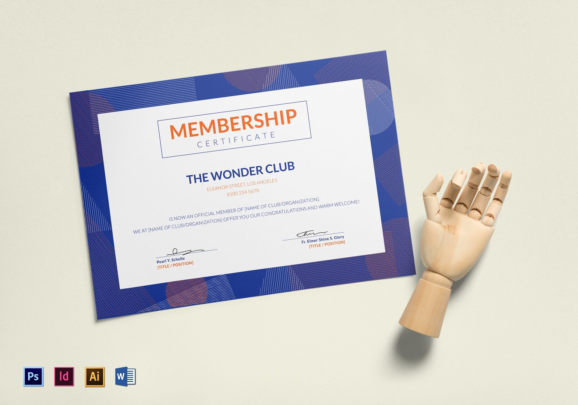 Certificate Of Membership Template Fresh Club Membership Certificate Design Template In Psd Word