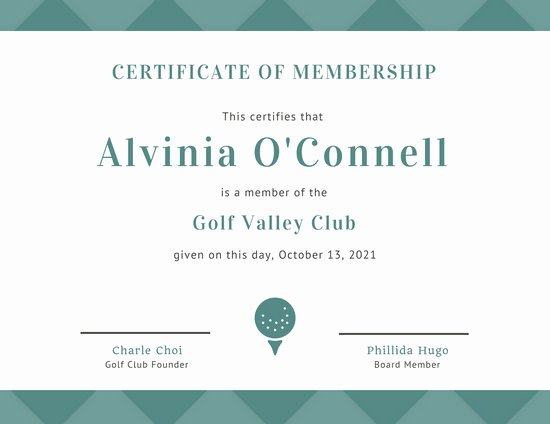 Certificate Of Membership Template Fresh Customize 64 Membership Certificate Templates Online Canva