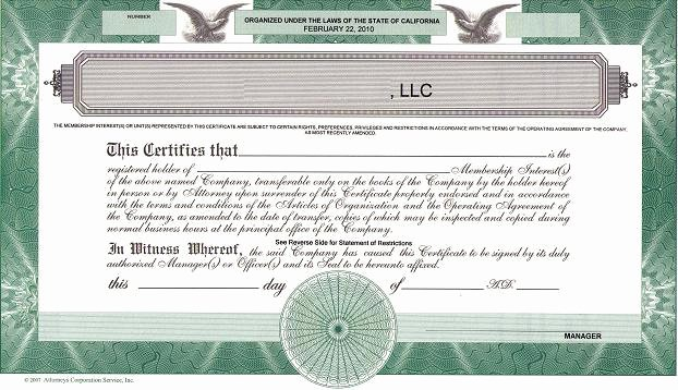Certificate Of Membership Template Fresh Should We issue Llc Membership Certificates the High