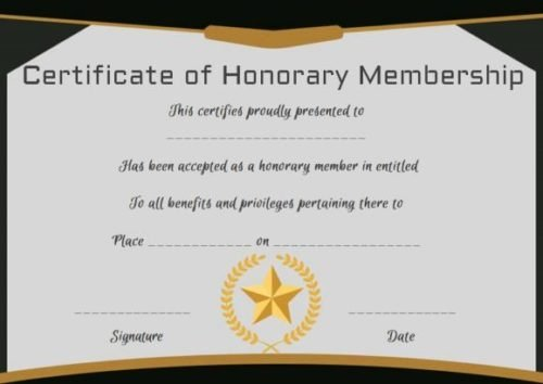 Certificate Of Membership Template Inspirational 14 Honorary Life Certificate Templates Pdf Docx
