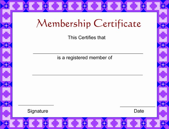 Certificate Of Membership Template Unique 23 Membership Certificate Templates Word Psd In