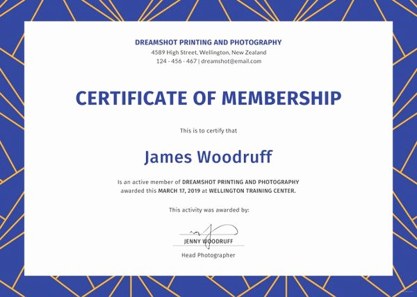 Certificate Of Membership Template Unique Certificate Template 62 Free Printable Word Excel Pdf