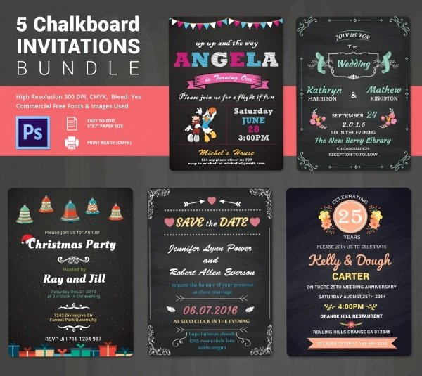 Chalkboard Invitation Template Free Awesome Chalkboard Invitation Template 45 Free Jpg Psd