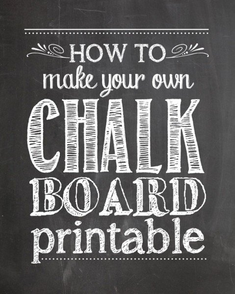 Chalkboard Invitation Template Free Best Of How to Make Your Own Chalkboard Printables How to Nest