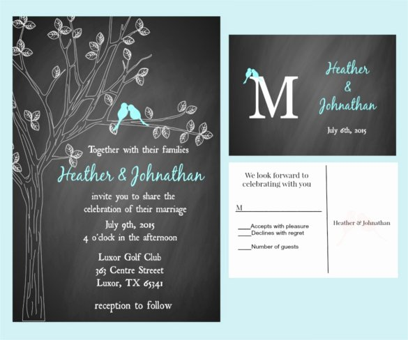 Chalkboard Invitation Template Free Inspirational 26 Chalkboard Wedding Invitation Templates – Free Sample