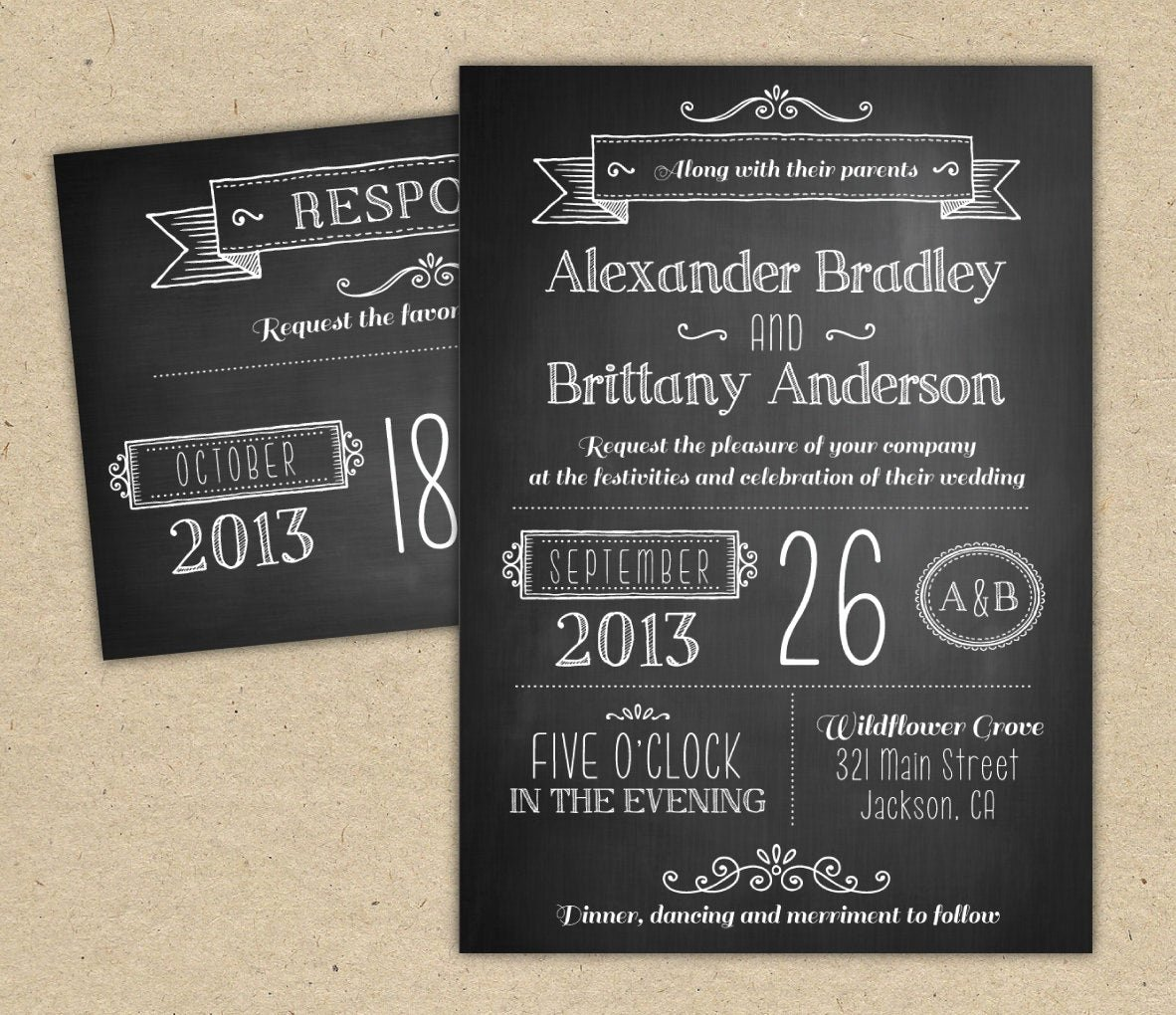 Chalkboard Invitation Template Free Inspirational Chalkboard Wedding Invitation Modern Invitation Template Diy