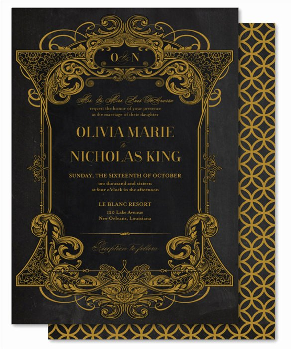 Chalkboard Invitation Template Free Luxury 26 Chalkboard Wedding Invitation Templates – Free Sample
