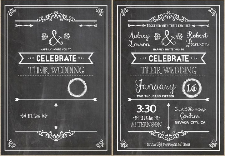 Chalkboard Invitation Template Free Luxury Diy Wedding Invitations Our Favorite Free Templates
