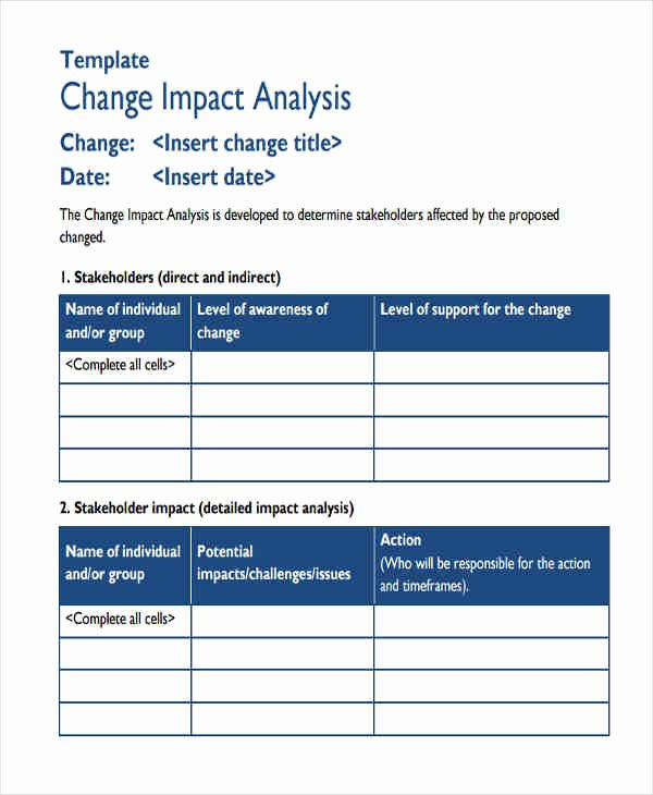 Change Impact Analysis Template Lovely 8 Impact Analysis Examples In Word Pdf