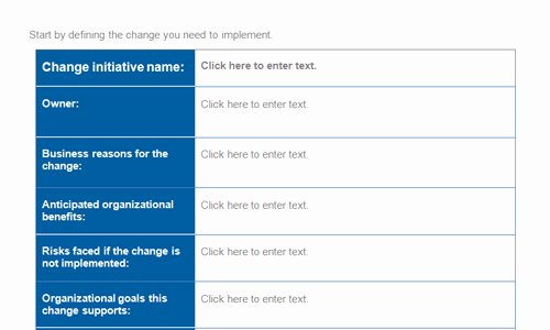 Change Management Plan Template Awesome Change Management Plan Template