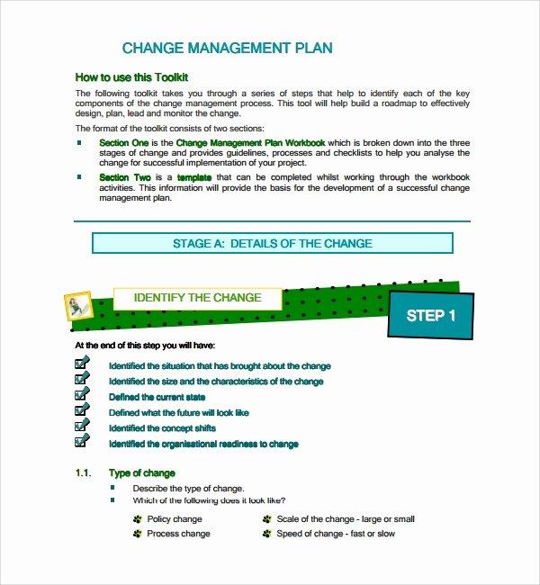 Change Management Plan Template Beautiful Sample Change Management Plan Template 13 Free