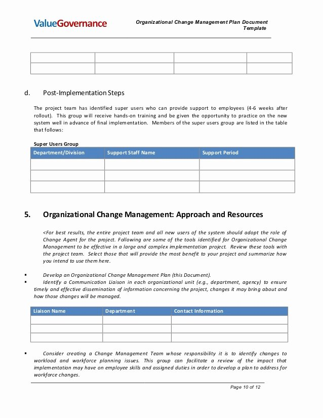 Change Management Plan Template Best Of Pm002 02 organizational Change Management Plan