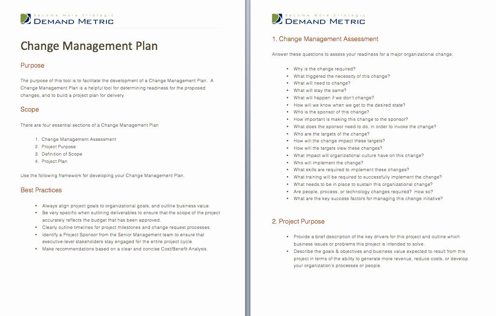 Change Management Plan Template Elegant Change Management A Project and Templates On Pinterest