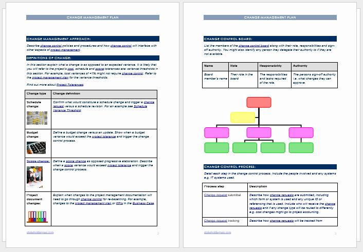 Change Management Plan Template Unique Change Management Plan Template