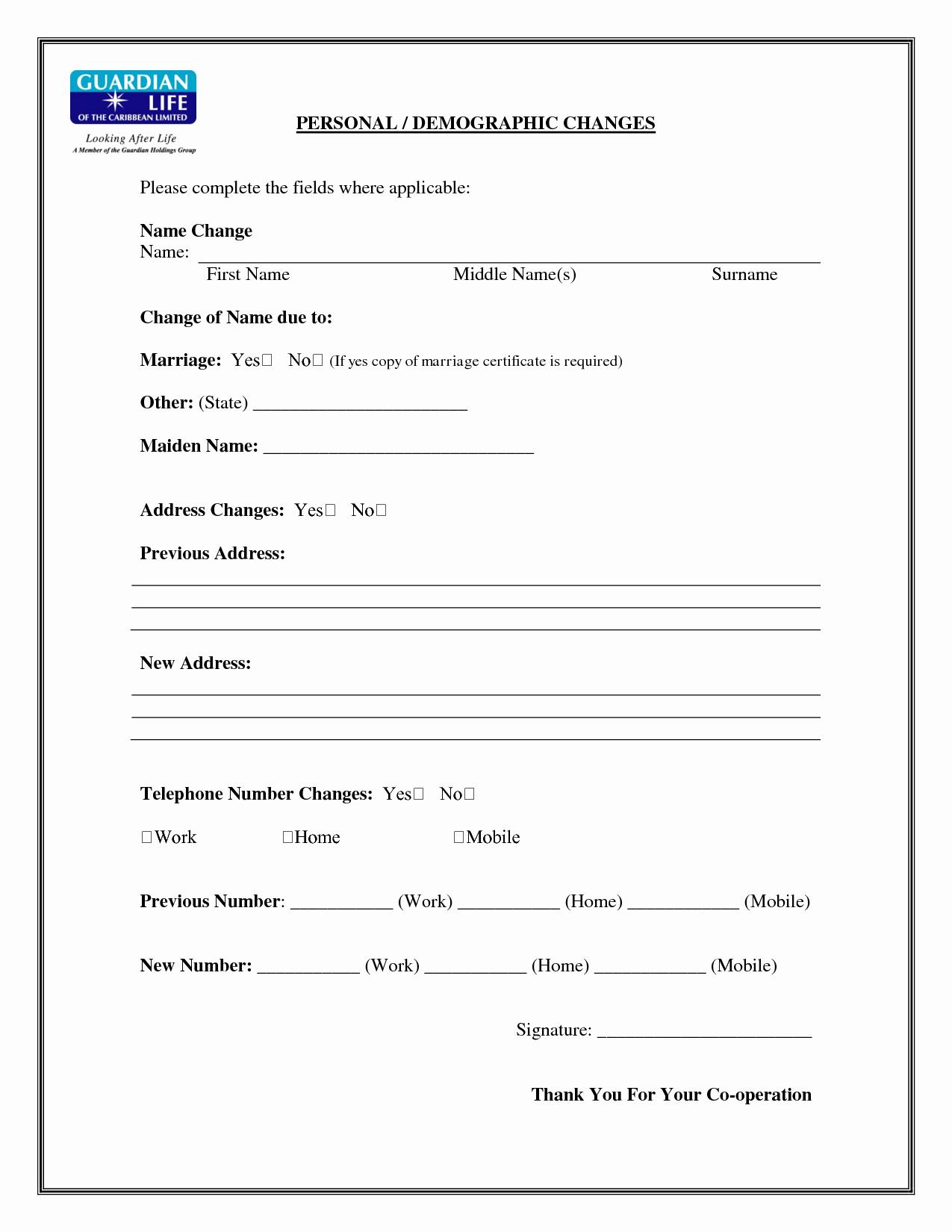 Change Of Address form Template Fresh Best S Of Name Change form Legal Name Change form