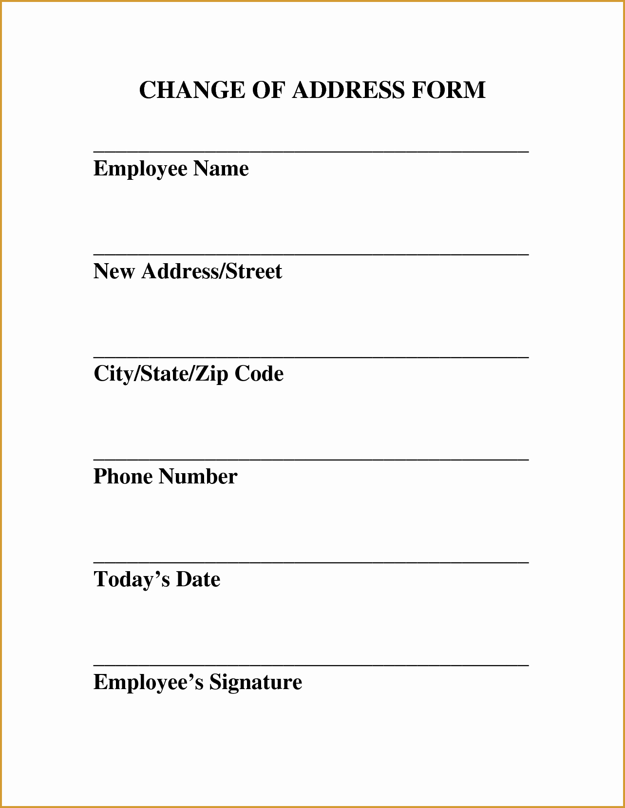 Change Of Address form Template Lovely Landlordsny Resources