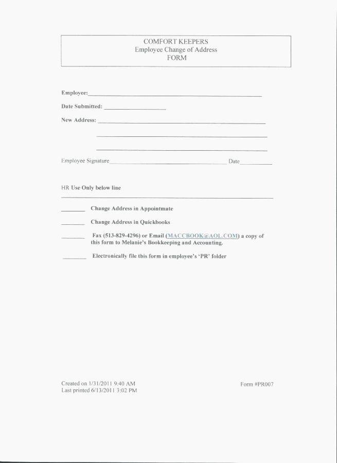 Change Of Address form Template New 40 Dynamite Printable Change Address form