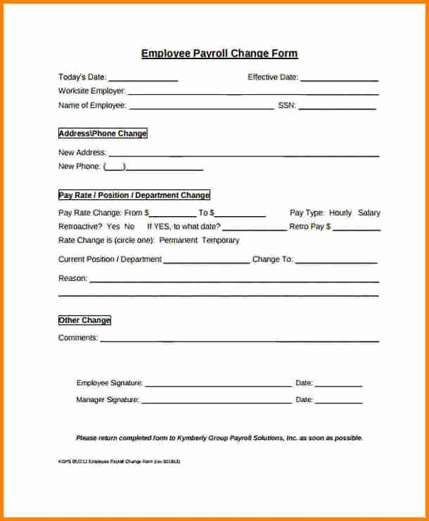 Change Of Address form Template New Address Change form Template
