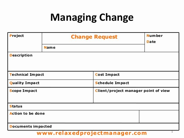 Change order Request Template Best Of Change Request form