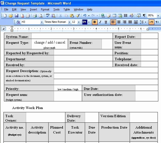 Change order Request Template Best Of Free Download Change order Template Excel Free