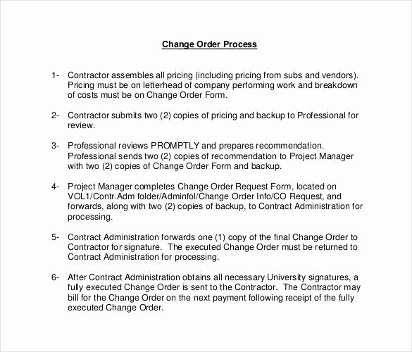 Change order Request Template Inspirational 24 Change order Templates Word Pdf Google Docs