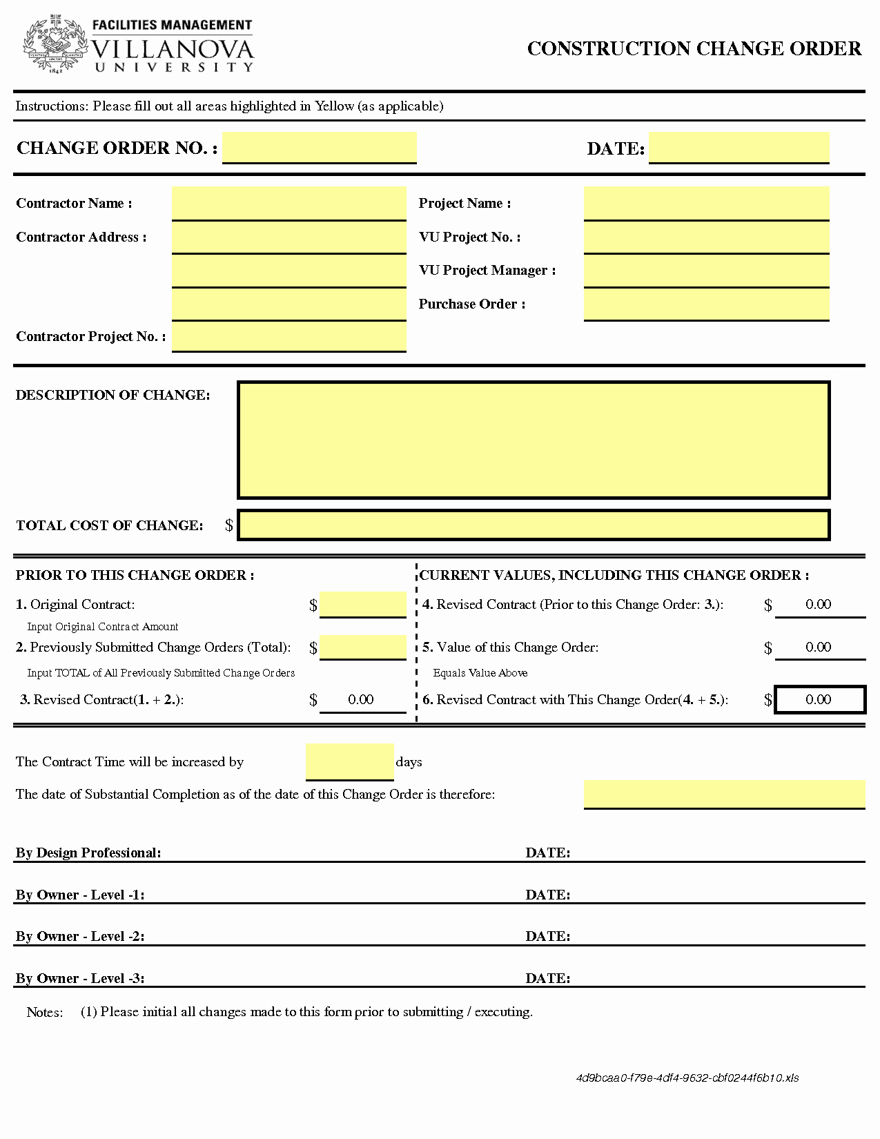 Change order Request Template New Change order Templates Find Word Templates