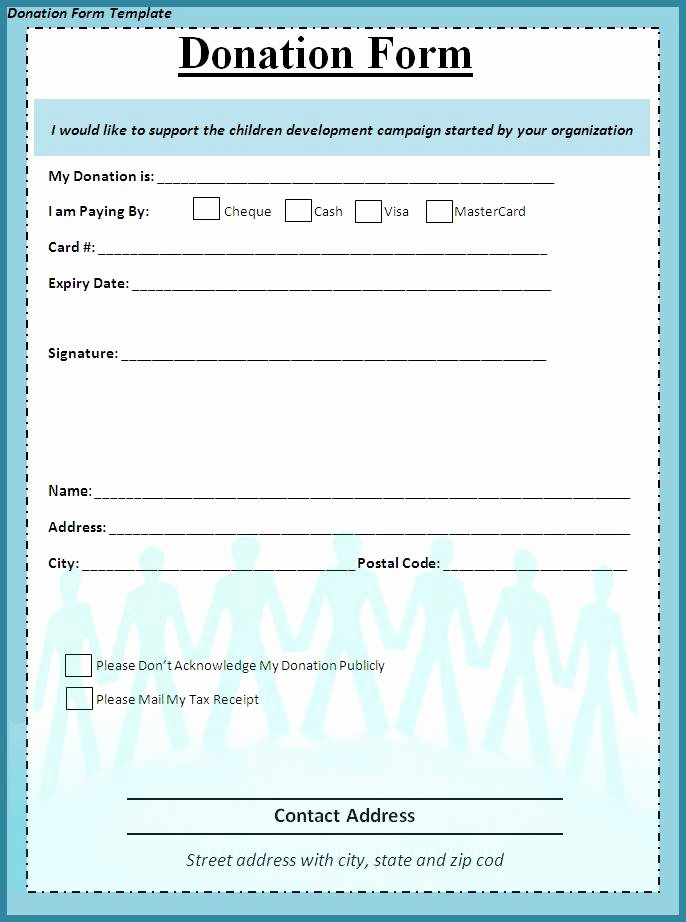 Charitable Donation form Template Awesome Donation form Template Word Templates