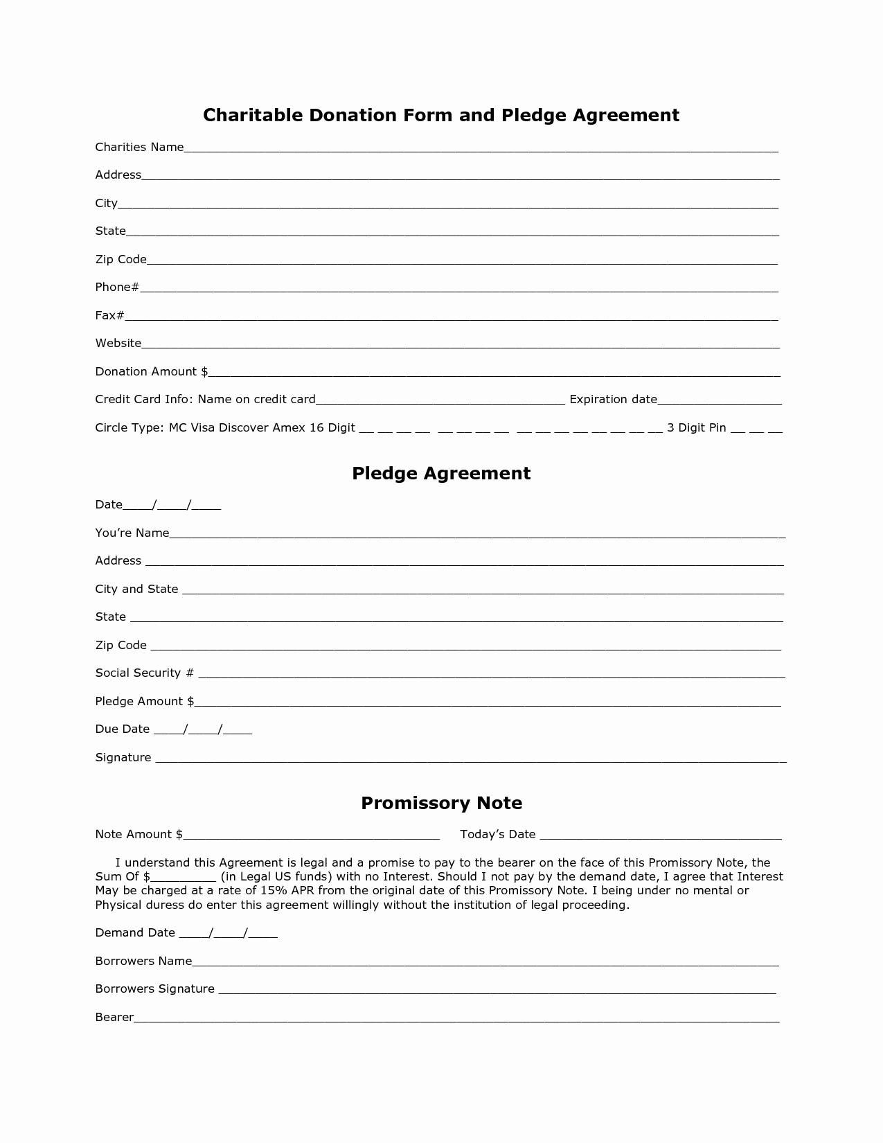 Charitable Donation form Template Best Of 10 Best S Of Blank Donation form Charitable