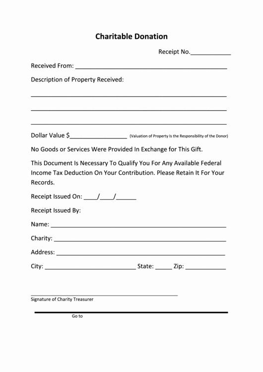 Charitable Donation form Template Fresh Charitable Donation Printable Pdf