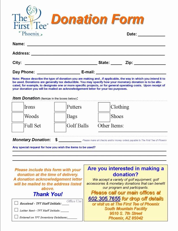 Charitable Donation form Template Inspirational Charitable Donation form Template