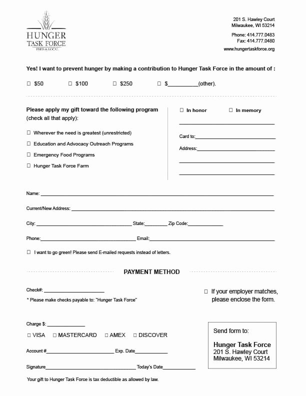 Charitable Donation form Template Lovely 6 Charitable Donation form Templates Free Sample Templates