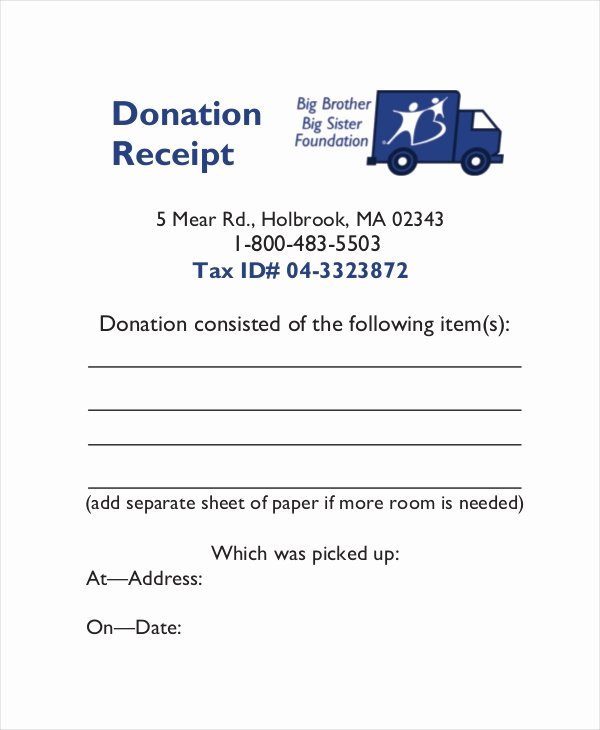 Charitable Donation form Template Luxury 15 Receipt Templates