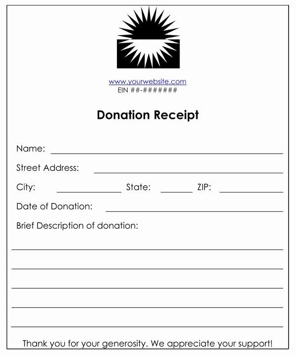 Charitable Donation form Template New Non Profit Donation Receipt