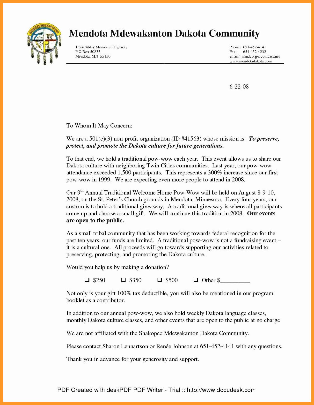 Charitable Donation Letter Template Lovely 12 13 Charitable Contribution Letter Sample