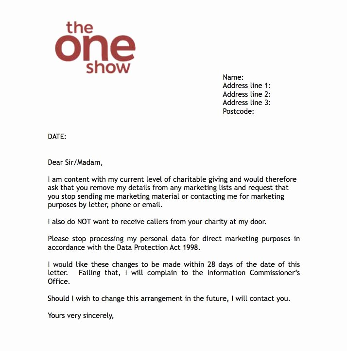 Charitable Donation Letter Template Lovely Bbc S the E Show Offers Don T Contact Me Letter to