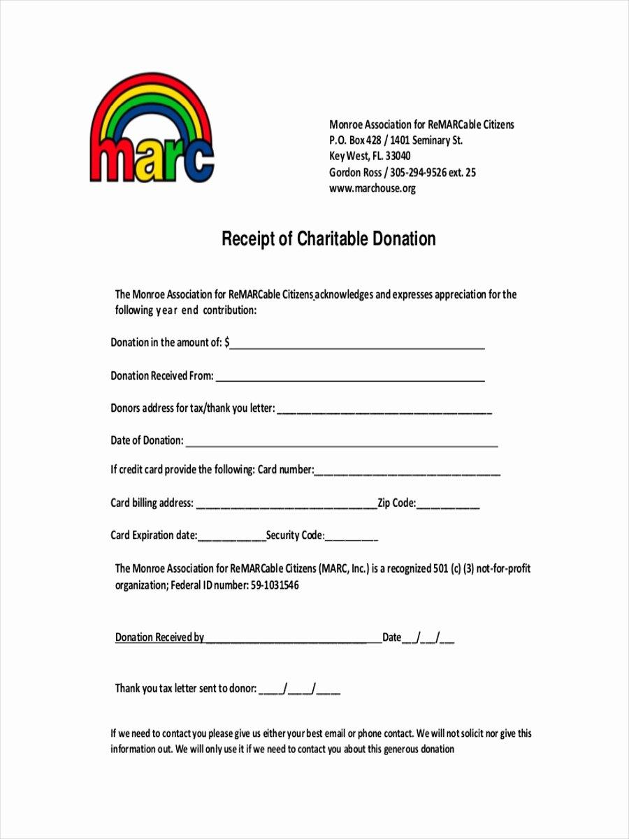 Charitable Donation Receipt Template Lovely Free 10 Donation Receipt Examples & Samples In Google