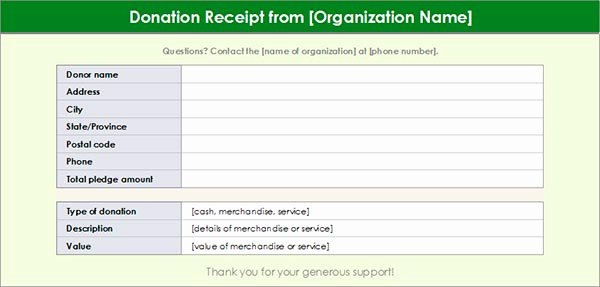Charitable Donation Receipt Template New Charitable Donation Receipt Template 1