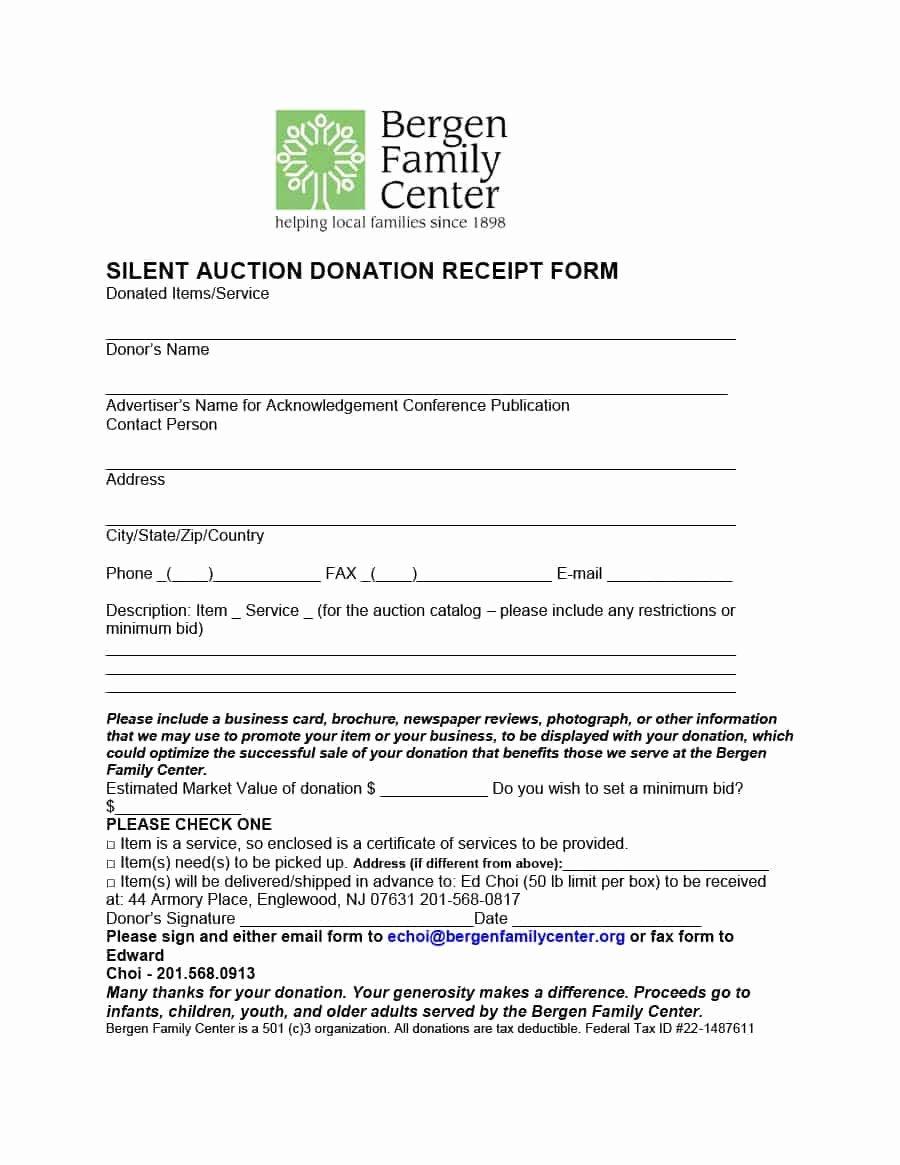 Charitable Donation Receipt Template Unique 40 Donation Receipt Templates & Letters [goodwill Non Profit]