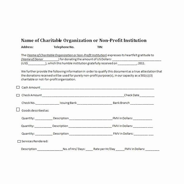 Charitable Donation Receipt Template Unique Charitable Donation Receipts Requirements as Supporting
